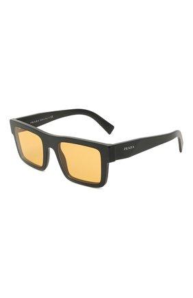 Мужские солнцезащитные очки PRADA желтого цвета, арт. 19WS-1B00B7 | Фото 1 (Тип очков: С/з; Очки форма: Прямоугольные; Оптика Гендер: оптика-мужское)