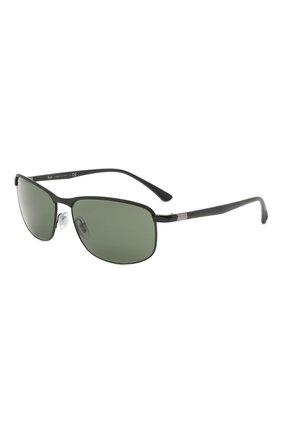 Мужские солнцезащитные очки RAY-BAN черного цвета, арт. 3671-186/31 | Фото 1