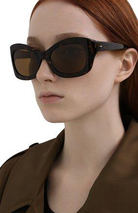 Женские солнцезащитные очки OLIVER PEOPLES коричневого цвета, арт. 5441SU-100983 | Фото 2