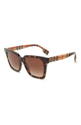 Женские солнцезащитные очки BURBERRY коричневого цвета, арт. 4335-393013   Фото 1
