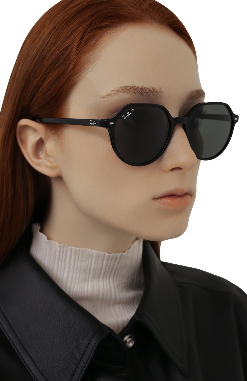 Женские солнцезащитные очки RAY-BAN черного цвета, арт. 2195-901/58 | Фото 2