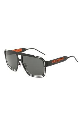 Мужские солнцезащитные очки DOLCE & GABBANA черного цвета, арт. 2270-110687 | Фото 1