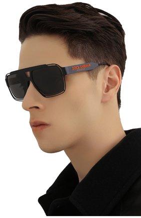 Мужские солнцезащитные очки DOLCE & GABBANA черного цвета, арт. 2270-110687 | Фото 2