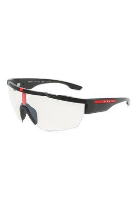 Мужские солнцезащитные очки PRADA LINEA ROSSA черного цвета, арт. 03XS-DG009H | Фото 1