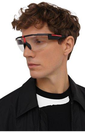 Мужские солнцезащитные очки PRADA LINEA ROSSA черного цвета, арт. 03XS-DG009H | Фото 2
