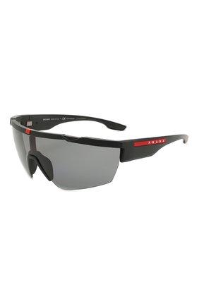 Мужские солнцезащитные очки PRADA LINEA ROSSA черного цвета, арт. 03XS-DG05Z1 | Фото 1