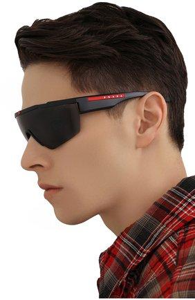 Мужские солнцезащитные очки PRADA LINEA ROSSA черного цвета, арт. 03XS-DG05Z1 | Фото 2