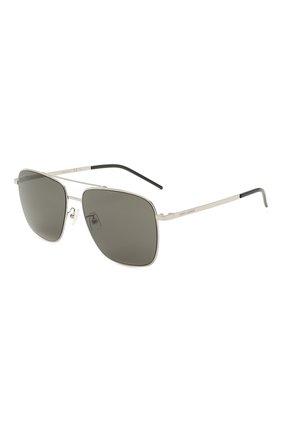 Женские солнцезащитные очки SAINT LAURENT серебряного цвета, арт. SL 376 SLIM 001   Фото 1