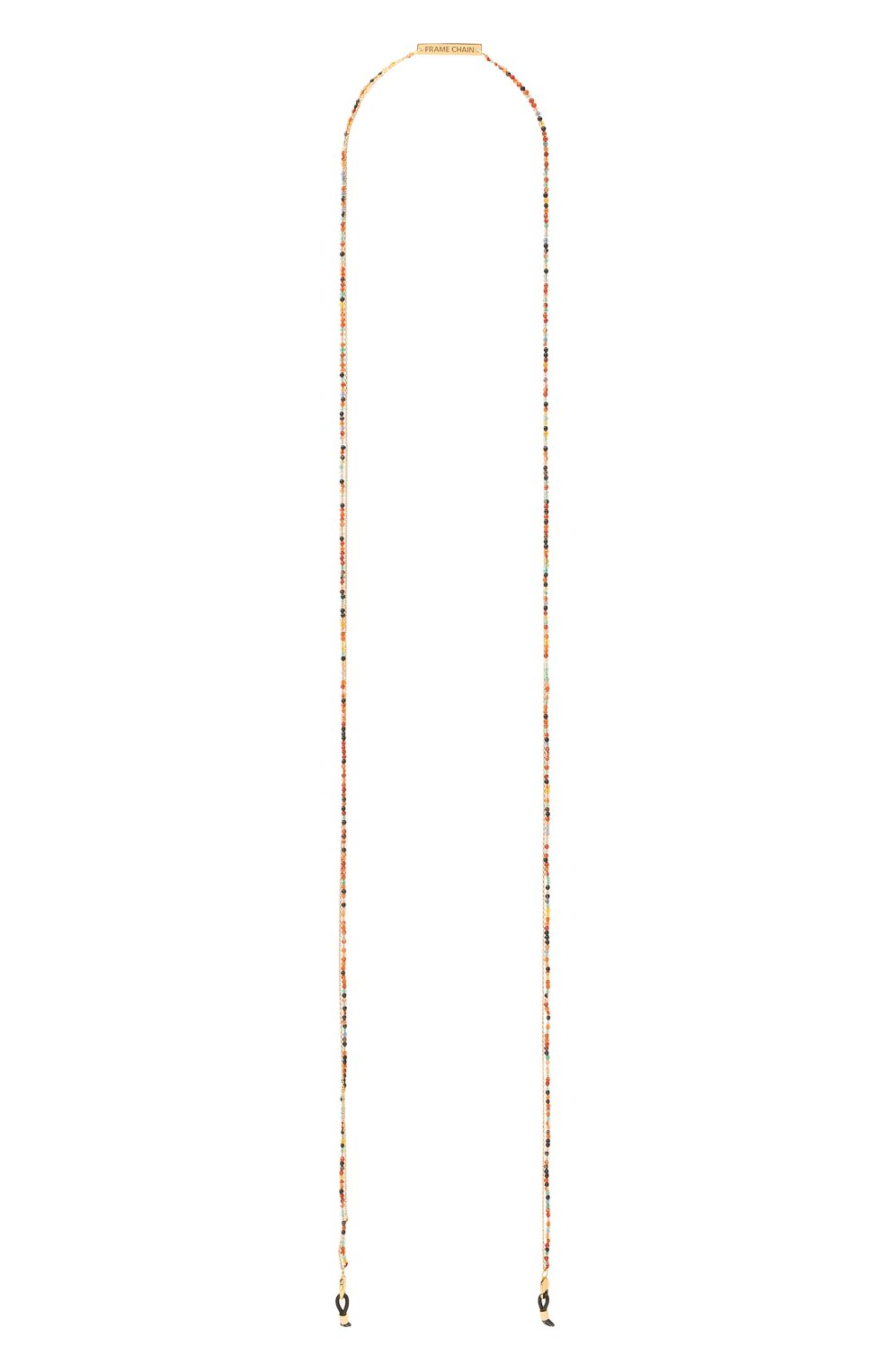Женские цепочка для очков FRAME CHAIN разноцветного цвета, арт. IT`S A WRAP YELL0W G0LD   Фото 1 (Тип очков: Цепочка)