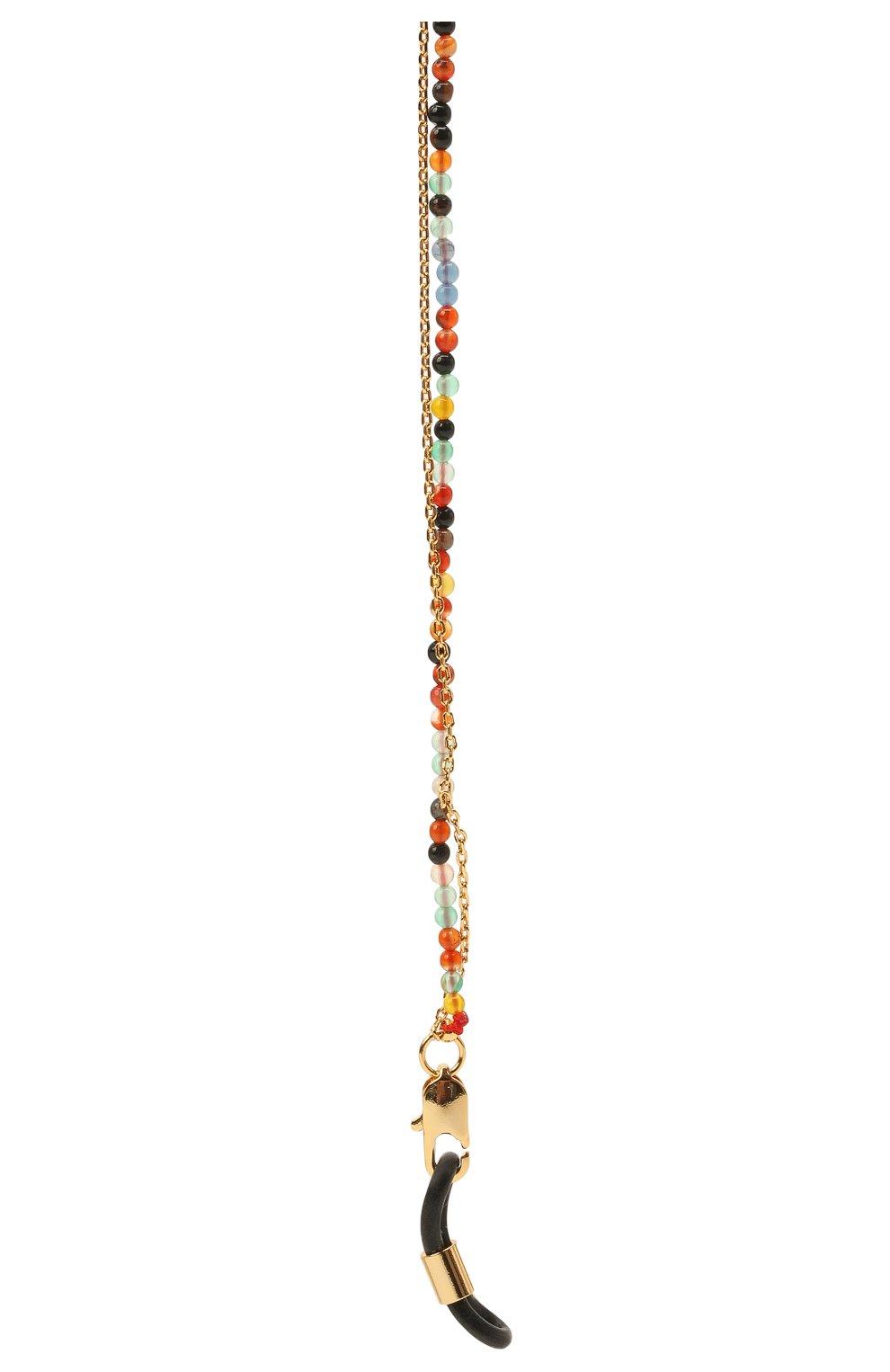 Женские цепочка для очков FRAME CHAIN разноцветного цвета, арт. IT`S A WRAP YELL0W G0LD   Фото 2 (Тип очков: Цепочка)