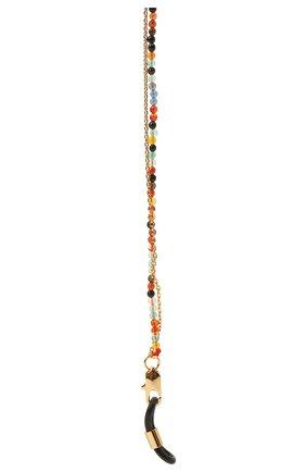 Женские цепочка для очков FRAME CHAIN разноцветного цвета, арт. IT`S A WRAP YELL0W G0LD | Фото 2