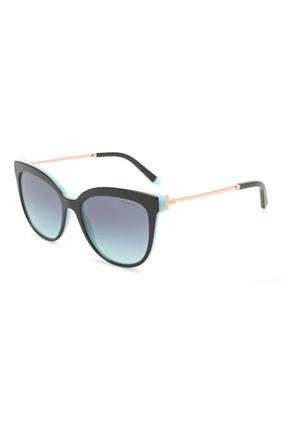 Женские солнцезащитные очки TIFFANY & CO. черного цвета, арт. 4176-80559S | Фото 1