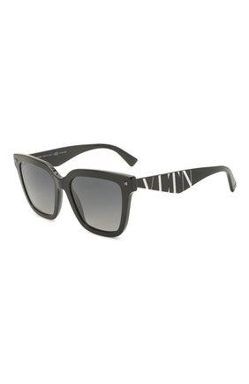 Женские солнцезащитные очки VALENTINO черного цвета, арт. 4084-5001T3 | Фото 1 (Тип очков: С/з; Оптика Гендер: оптика-женское; Очки форма: Прямоугольные)