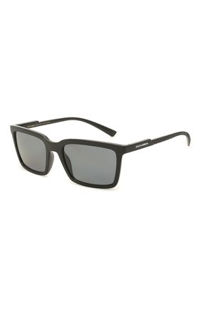 Мужские солнцезащитные очки DOLCE & GABBANA черного цвета, арт. 6151-252581 | Фото 1