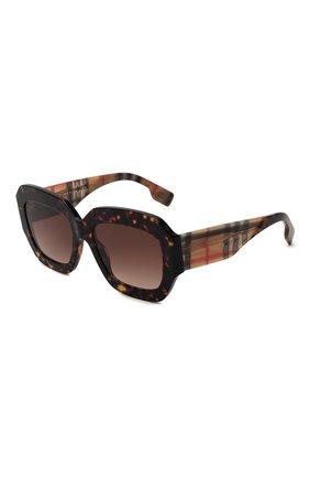 Женские солнцезащитные очки BURBERRY коричневого цвета, арт. 4334-393013 | Фото 1