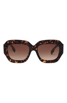 Женские солнцезащитные очки BURBERRY коричневого цвета, арт. 4334-393013 | Фото 3
