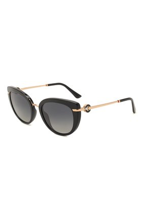 Женские солнцезащитные очки BVLGARI черного цвета, арт. 8231B-501/T3   Фото 1
