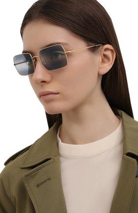 Женские солнцезащитные очки RAY-BAN синего цвета, арт. 1969-001/GA | Фото 2