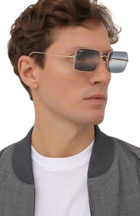 Женские солнцезащитные очки RAY-BAN синего цвета, арт. 1969-001/GA | Фото 3