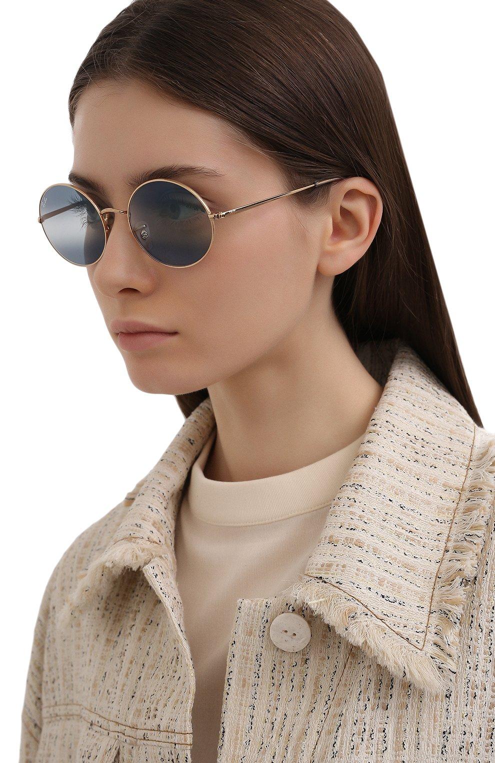 Женские солнцезащитные очки RAY-BAN синего цвета, арт. 1970-001/GA   Фото 2