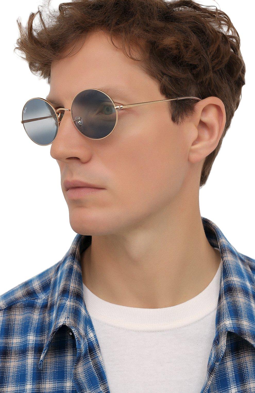 Женские солнцезащитные очки RAY-BAN синего цвета, арт. 1970-001/GA   Фото 3