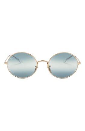 Женские солнцезащитные очки RAY-BAN синего цвета, арт. 1970-001/GA   Фото 4
