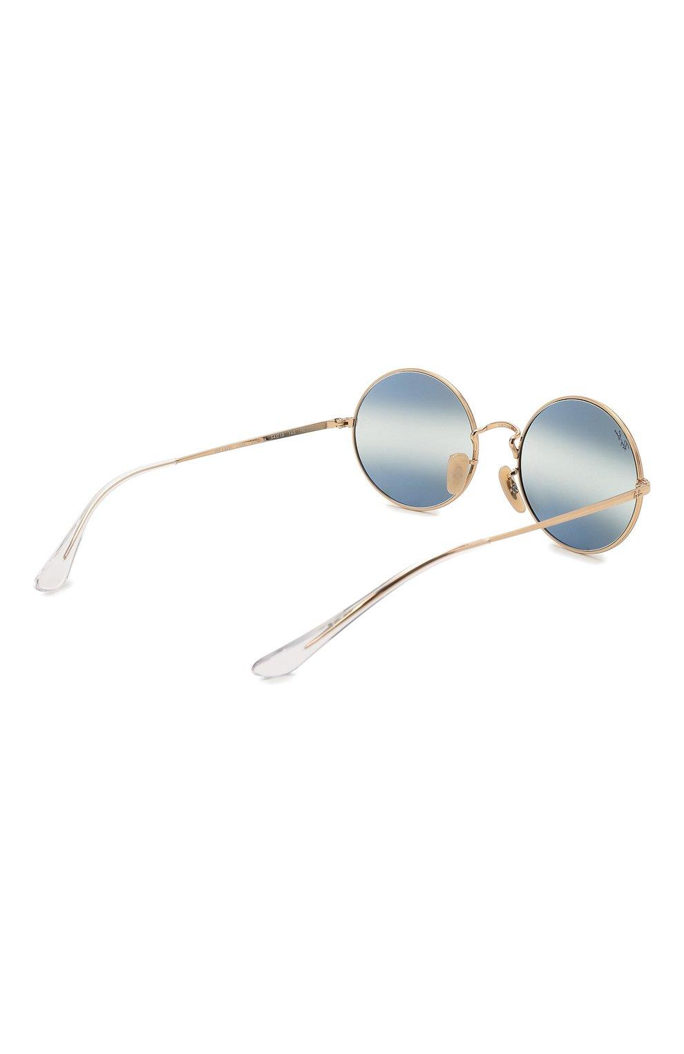 Женские солнцезащитные очки RAY-BAN синего цвета, арт. 1970-001/GA   Фото 5