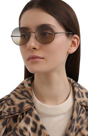 Женские солнцезащитные очки RAY-BAN серого цвета, арт. 1970-004/GH | Фото 2