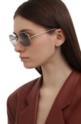 Женские солнцезащитные очки RAY-BAN синего цвета, арт. 1972-001/GA | Фото 2