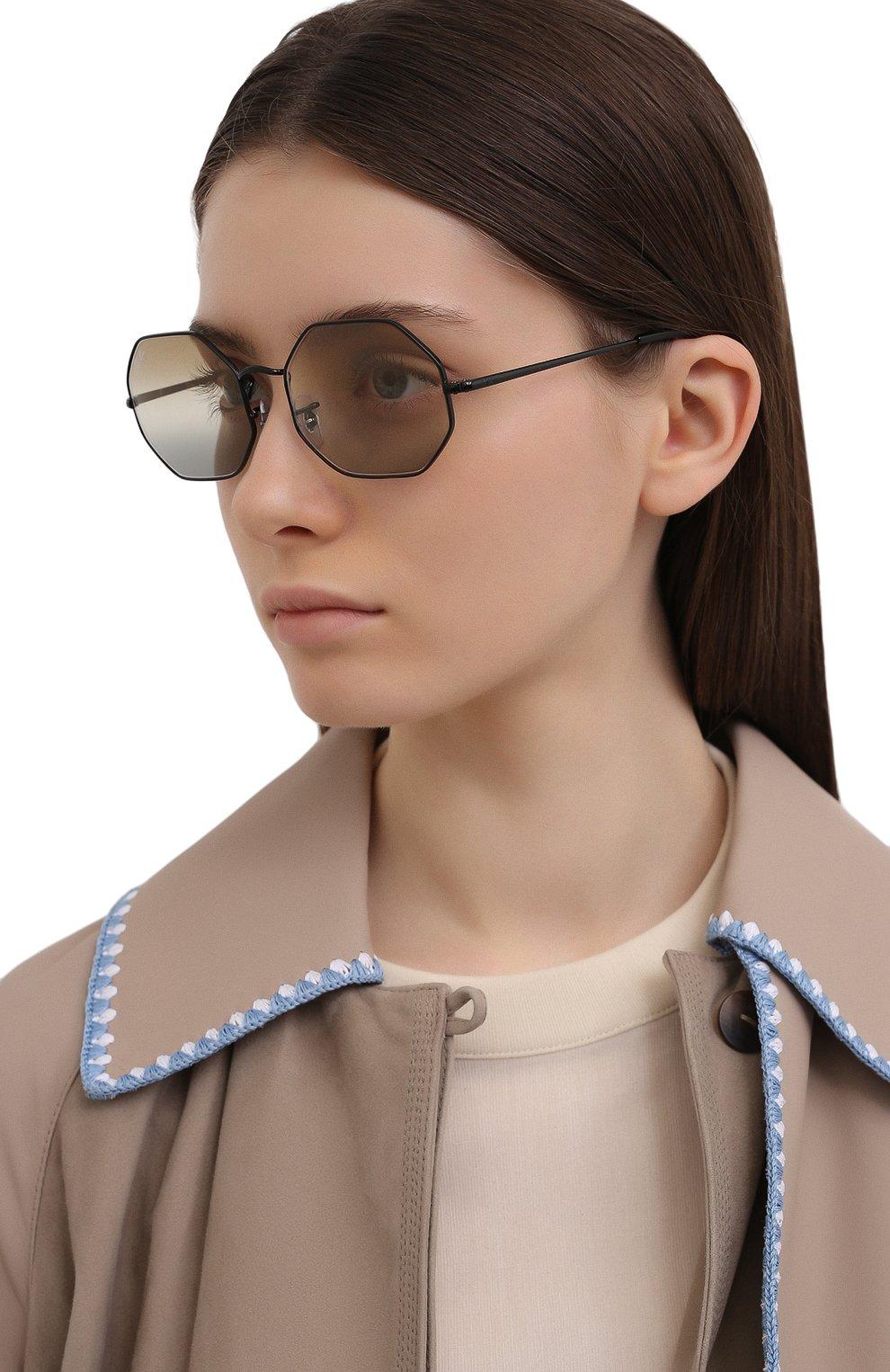 Женские солнцезащитные очки RAY-BAN черного цвета, арт. 1972-002/GB   Фото 2