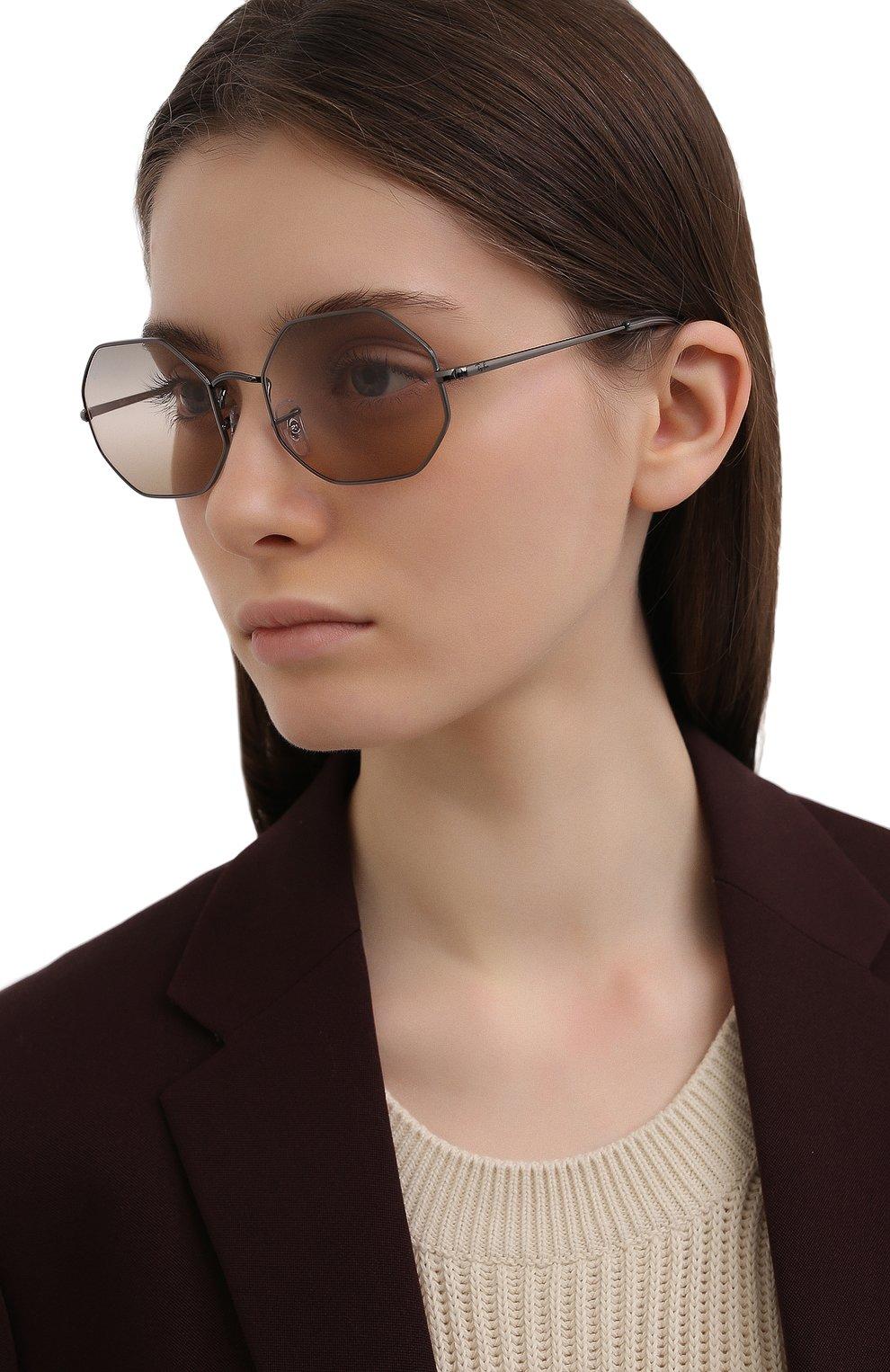 Женские солнцезащитные очки RAY-BAN черного цвета, арт. 1972-004/GC | Фото 2