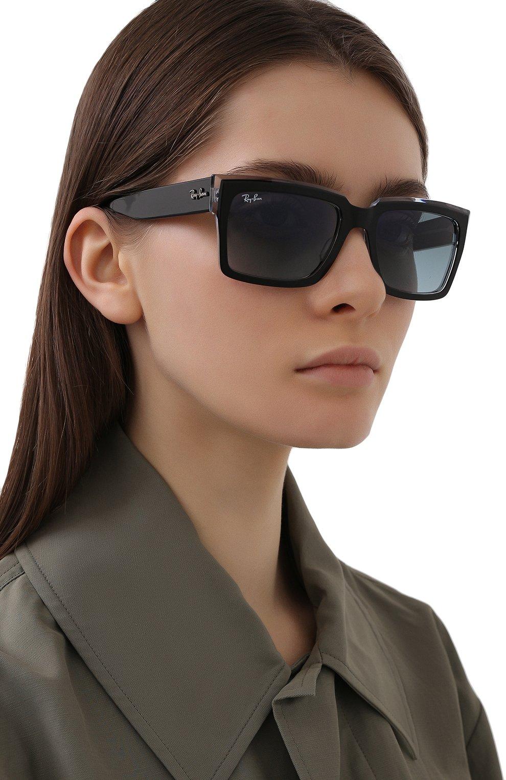 Женские солнцезащитные очки RAY-BAN черного цвета, арт. 2191-12943M | Фото 2
