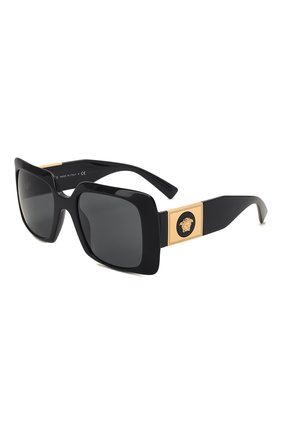 Женские солнцезащитные очки VERSACE черного цвета, арт. 4405-GB1/87 | Фото 1