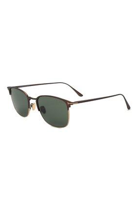 Мужские солнцезащитные очки TOM FORD коричневого цвета, арт. TF851 49N | Фото 1