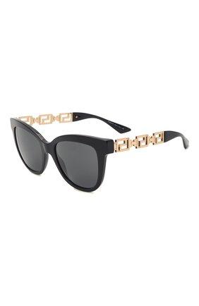 Женские солнцезащитные очки VERSACE черного цвета, арт. 4394-GB1/87   Фото 1 (Тип очков: С/з; Оптика Гендер: оптика-женское; Очки форма: Бабочка)