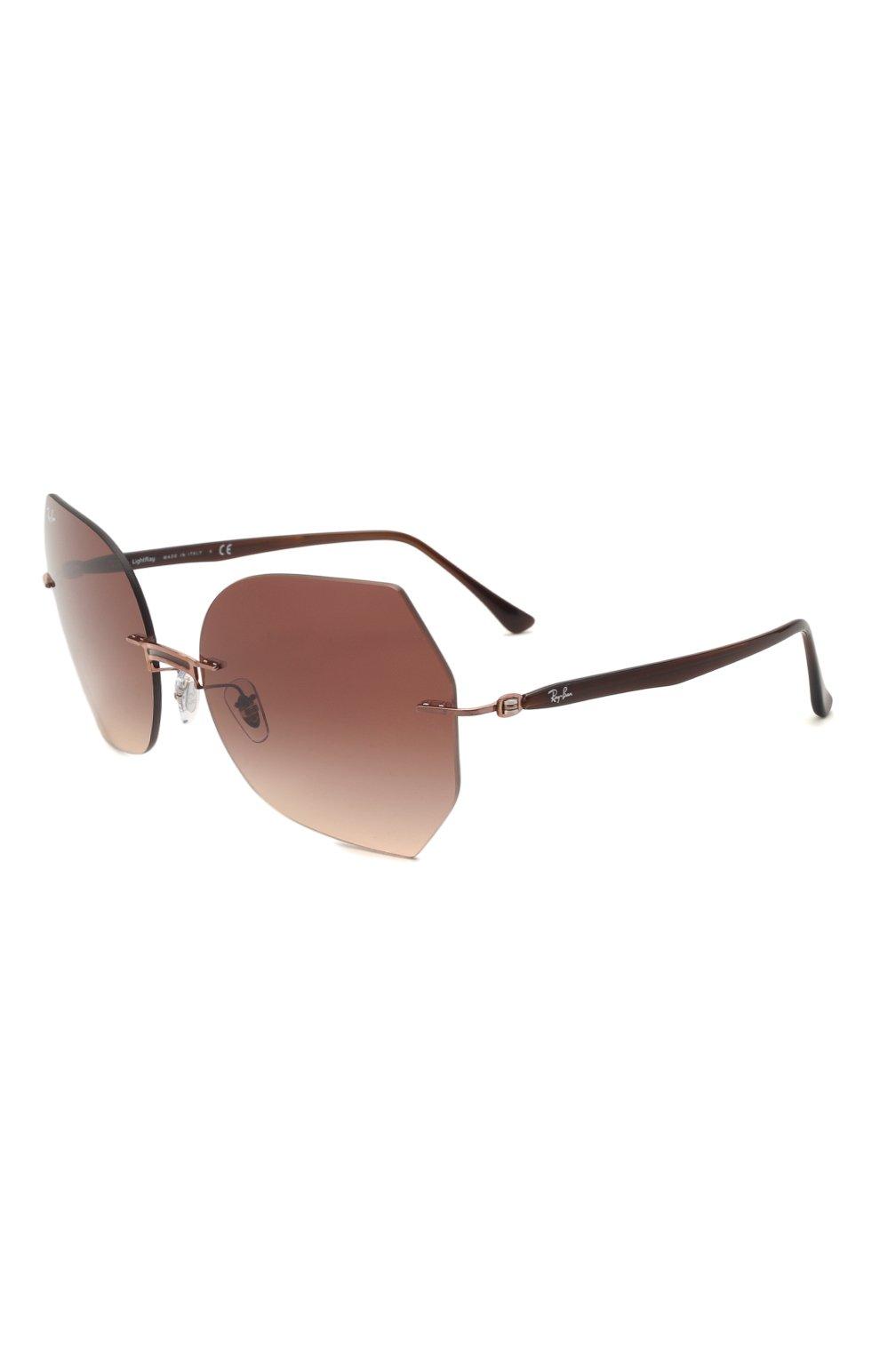 Женские солнцезащитные очки RAY-BAN коричневого цвета, арт. 8065-155/13 | Фото 1