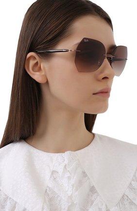 Женские солнцезащитные очки RAY-BAN коричневого цвета, арт. 8065-155/13 | Фото 2