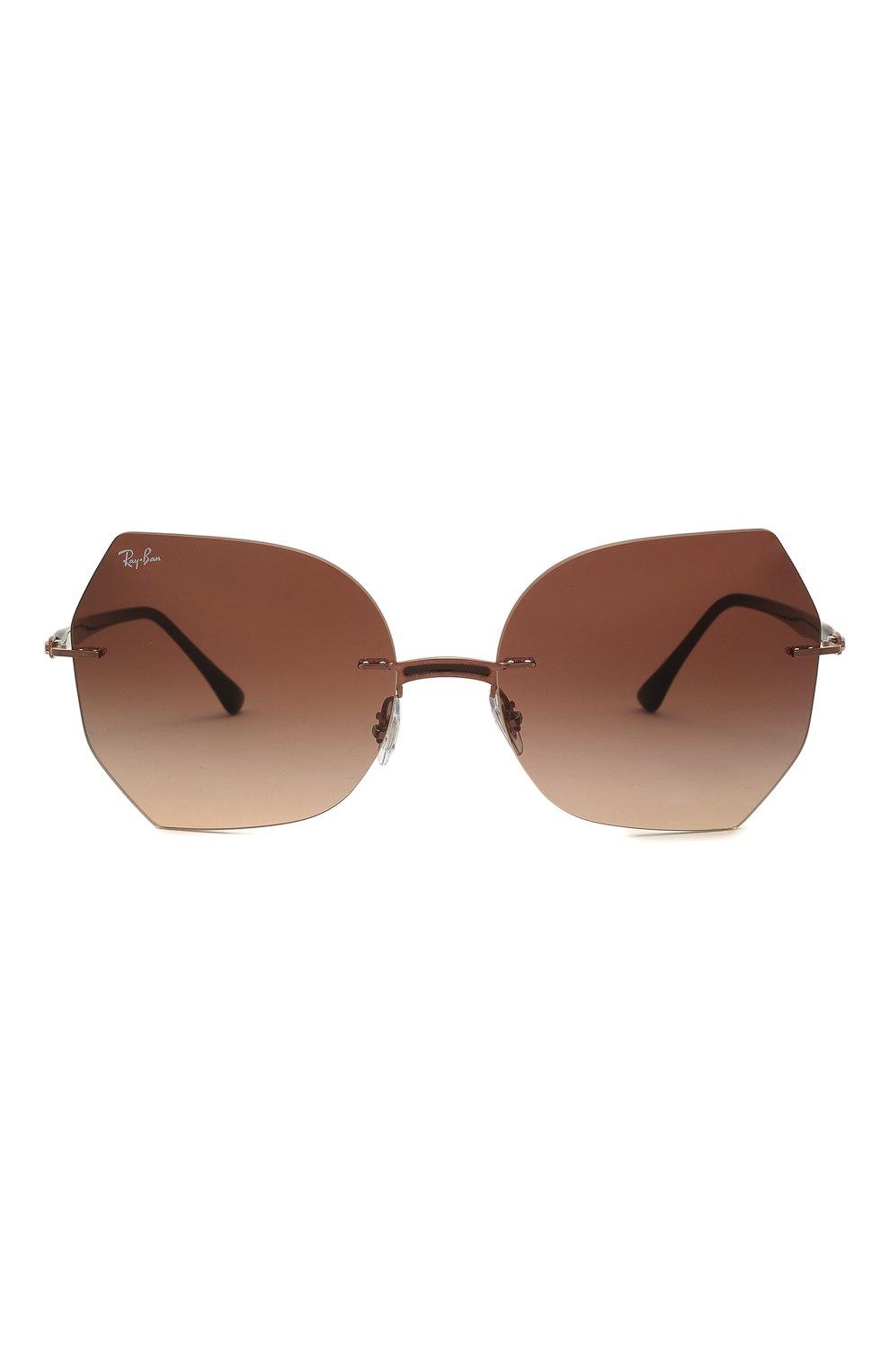 Женские солнцезащитные очки RAY-BAN коричневого цвета, арт. 8065-155/13 | Фото 3