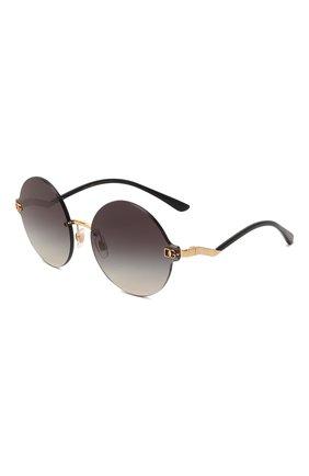 Женские солнцезащитные очки DOLCE & GABBANA черного цвета, арт. 2269-02/8G   Фото 1 (Оптика Гендер: оптика-женское; Очки форма: Круглые; Тип очков: С/з)