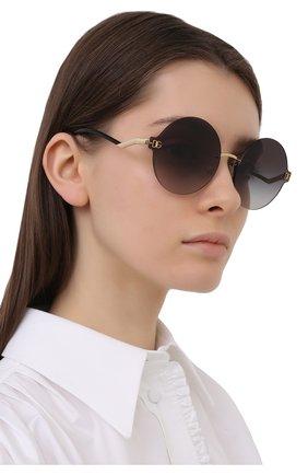 Женские солнцезащитные очки DOLCE & GABBANA черного цвета, арт. 2269-02/8G   Фото 2 (Оптика Гендер: оптика-женское; Очки форма: Круглые; Тип очков: С/з)