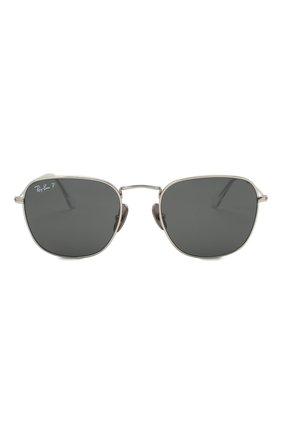 Женские солнцезащитные очки RAY-BAN серебряного цвета, арт. 8157-920948 | Фото 4
