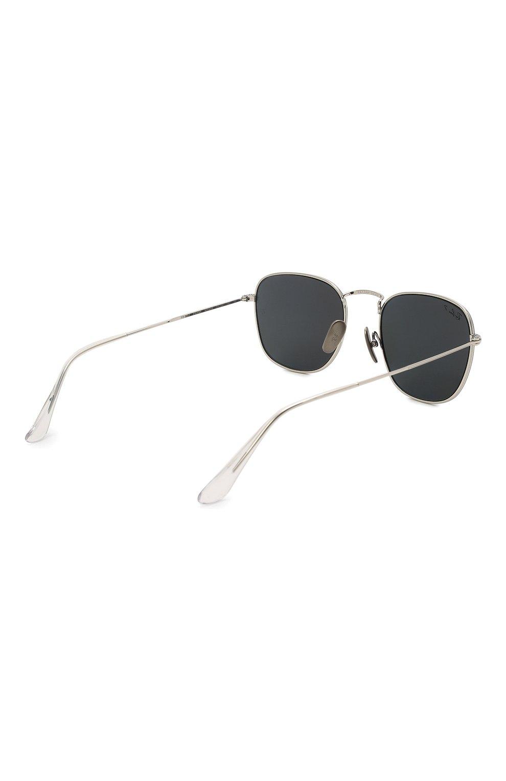 Женские солнцезащитные очки RAY-BAN серебряного цвета, арт. 8157-920948 | Фото 5