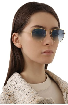 Женские солнцезащитные очки RAY-BAN голубого цвета, арт. 3857-91963F   Фото 2