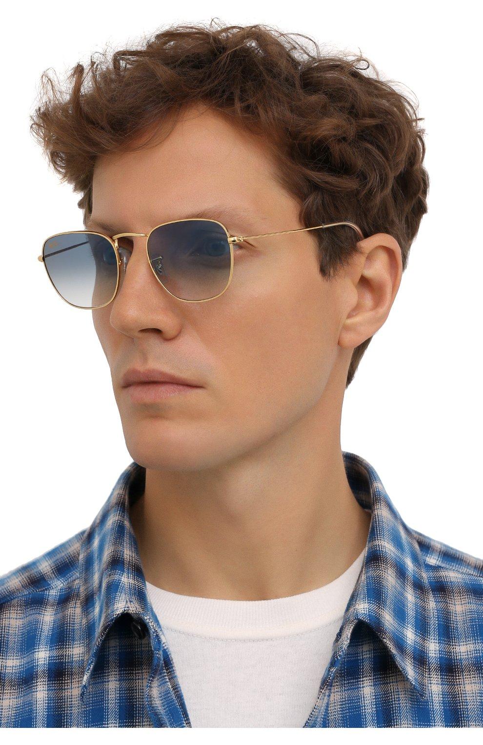 Женские солнцезащитные очки RAY-BAN голубого цвета, арт. 3857-91963F   Фото 3