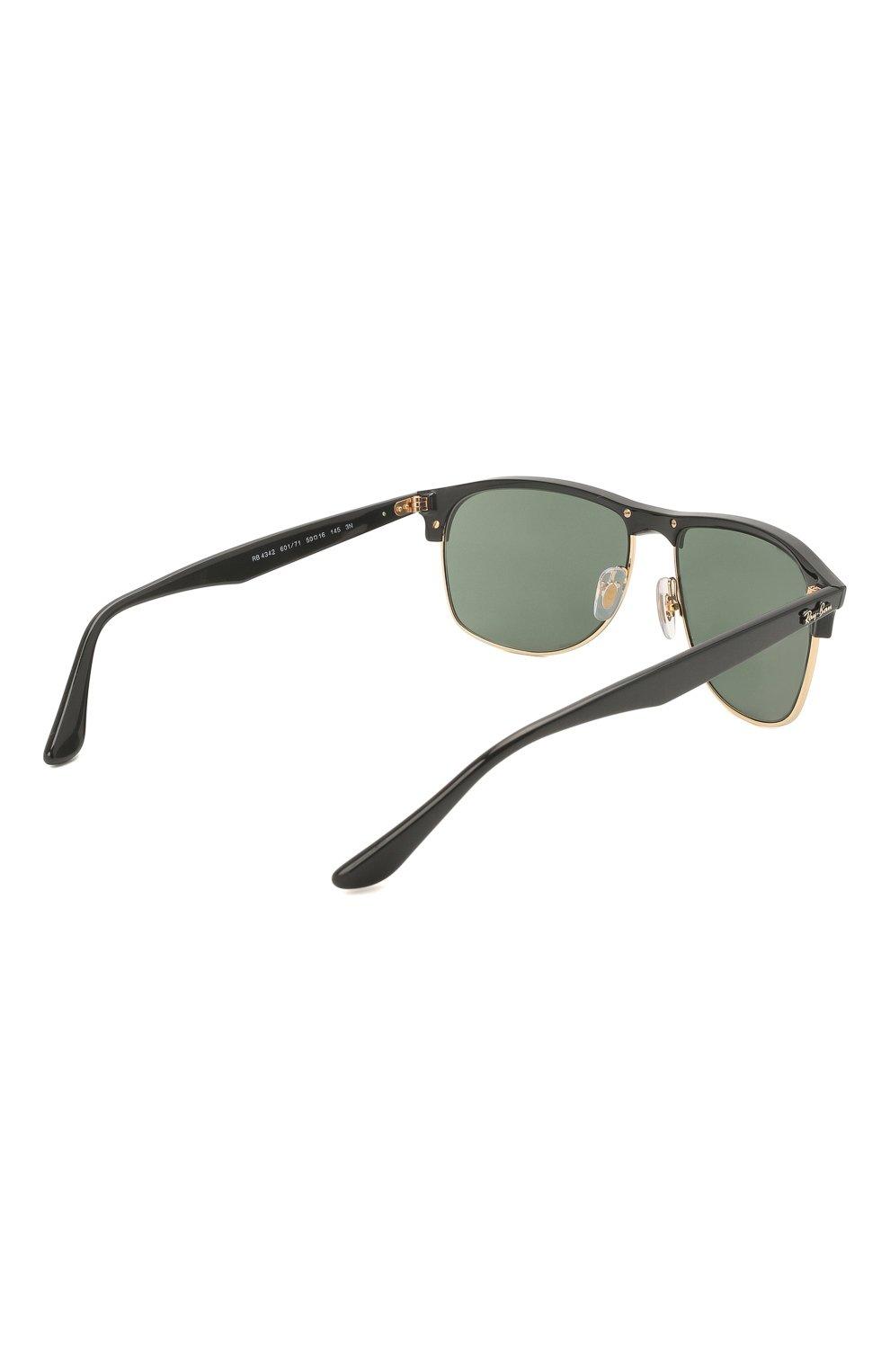 Мужские солнцезащитные очки RAY-BAN черного цвета, арт. 4342-601/71 | Фото 4
