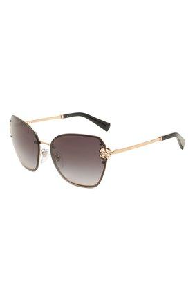 Женские солнцезащитные очки BVLGARI черного цвета, арт. 6152B-20148G | Фото 1