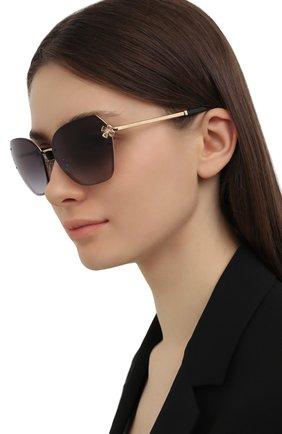 Женские солнцезащитные очки BVLGARI черного цвета, арт. 6152B-20148G | Фото 2