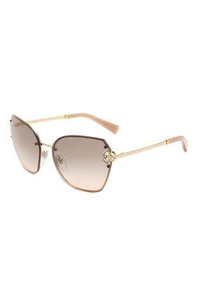 Женские солнцезащитные очки BVLGARI светло-коричневого цвета, арт. 6152B-278/3B | Фото 1