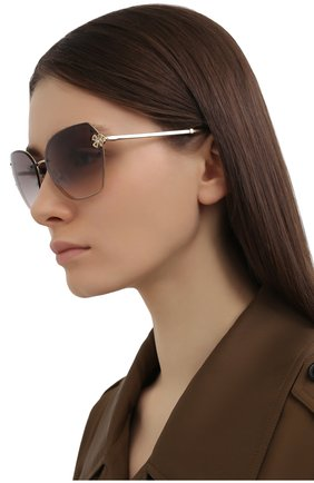 Женские солнцезащитные очки BVLGARI светло-коричневого цвета, арт. 6152B-278/3B | Фото 2