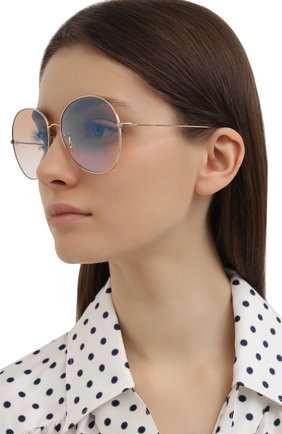 Женские солнцезащитные очки OLIVER PEOPLES светло-розового цвета, арт. 1289S-50357K | Фото 2